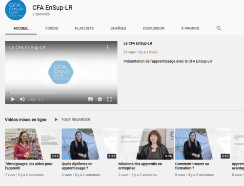 Le CFA EnSup-LR a sa page YouTube